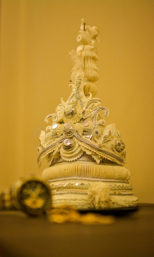 Свадьба традиции Groom бенгальца стоковая фотография