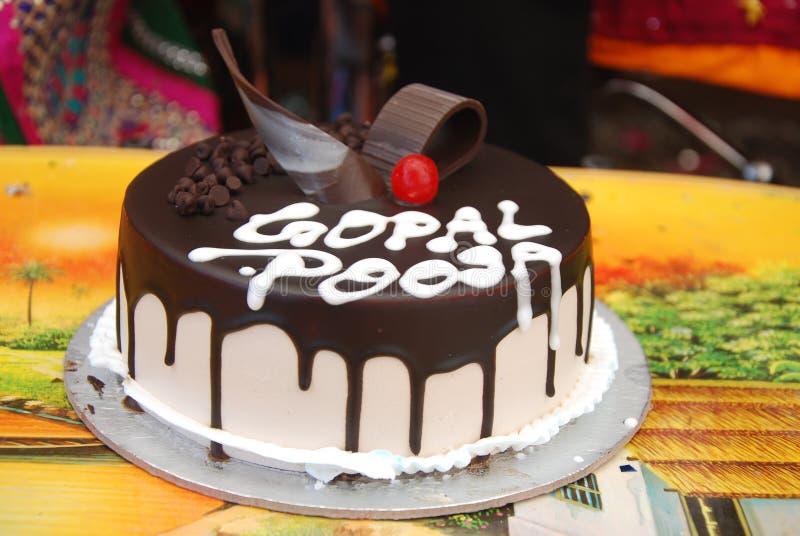 Свадьба шоколада торта стоковая фотография