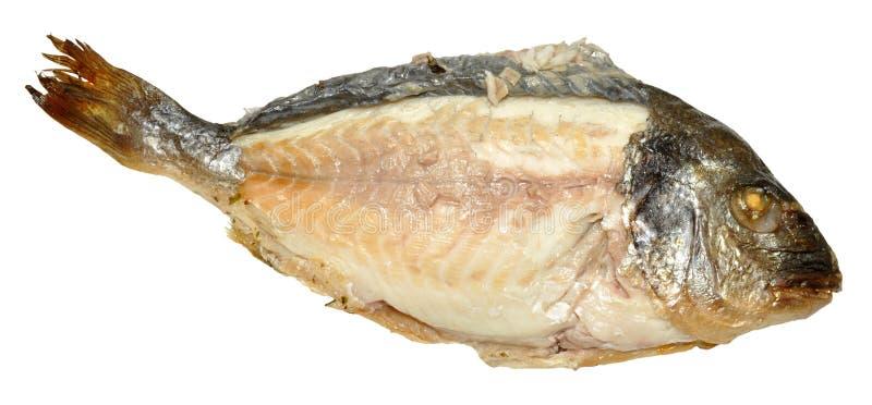 Сваренные рыбы при подвергли действию плоть, который стоковая фотография