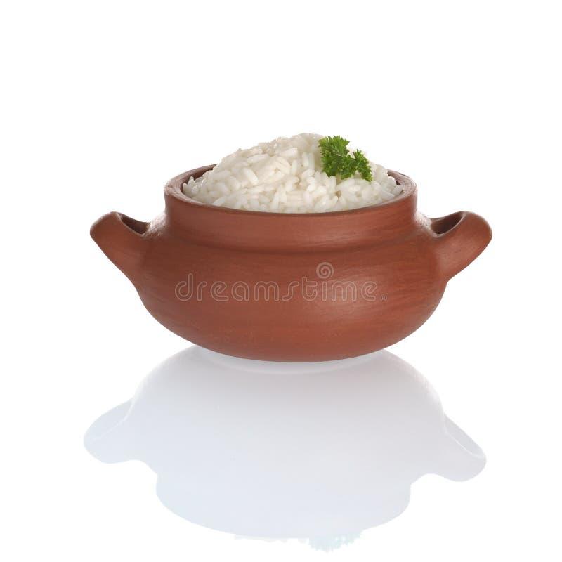 сваренный рис петрушки стоковое фото