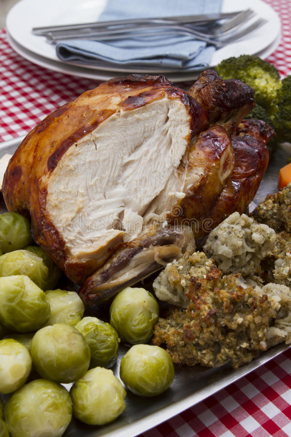 Сваренный цыпленок стоковое фото