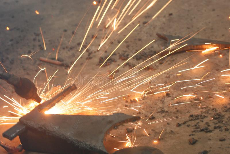 Сваривая огонь стоковое изображение