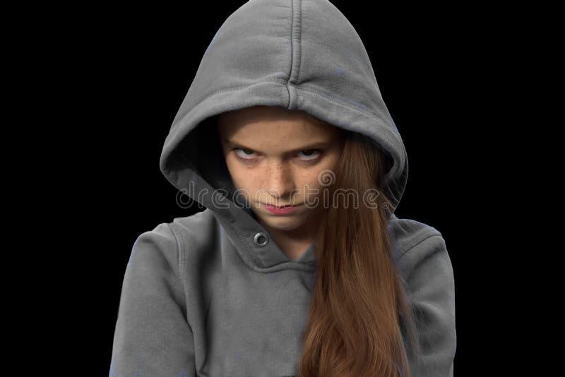 Сварливый девочка-подросток стоковое фото rf