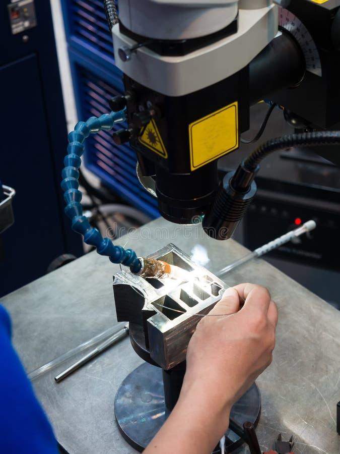 Сварочный аппарат лазера стоковое фото rf