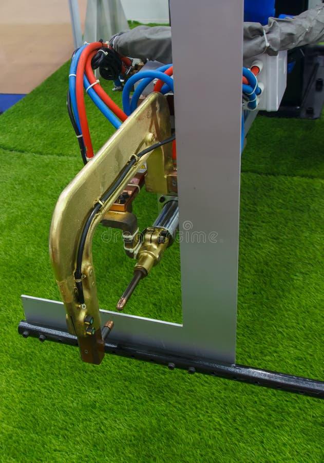 Сварочный аппарат пятна стоковое изображение