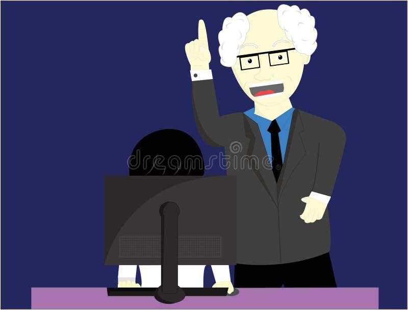 Сварливый босс бесплатная иллюстрация