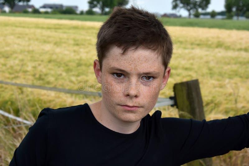 Сварливый мальчик стоковое изображение