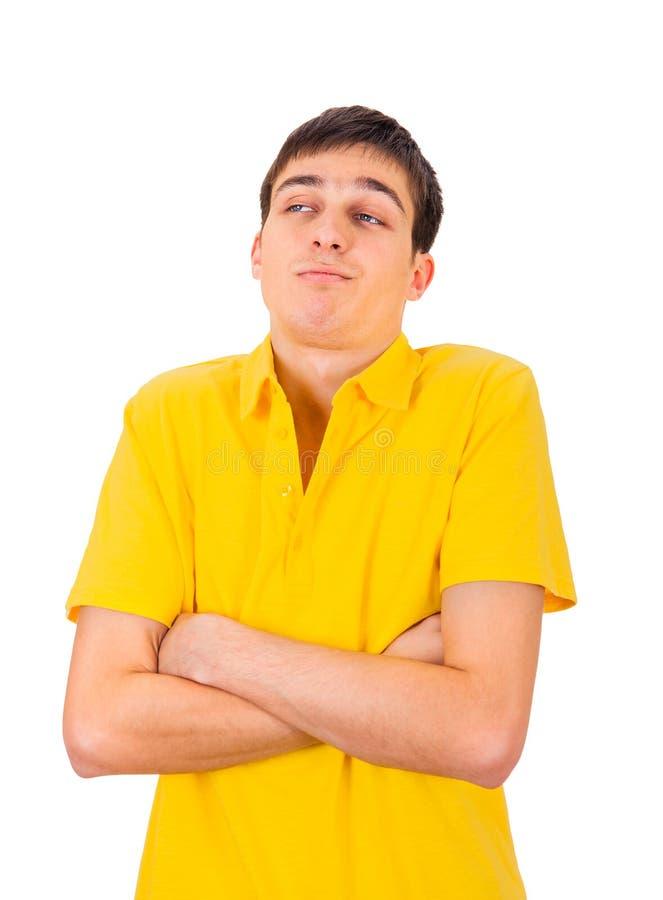 Сварливый молодой человек стоковые фотографии rf