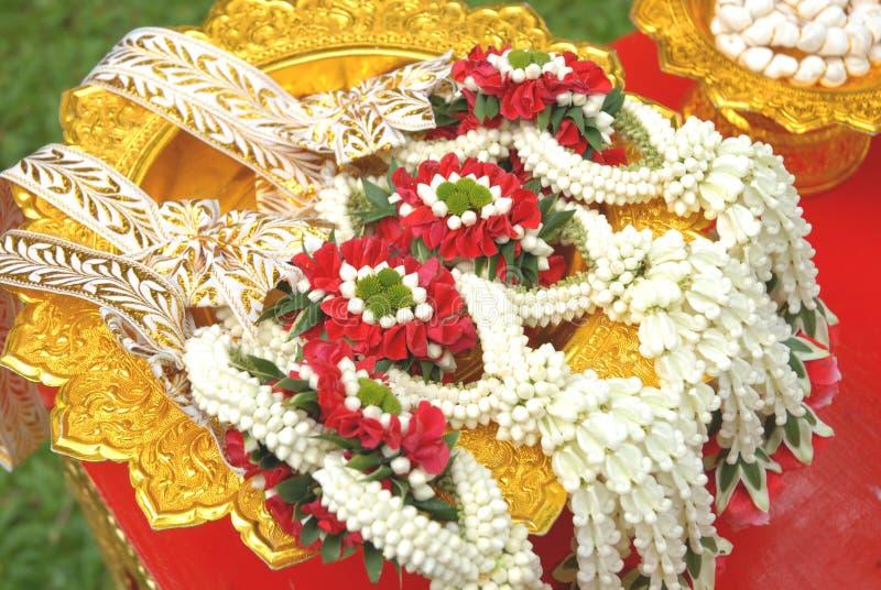 Свадебная церемония Таиланд гирлянды стоковые фото