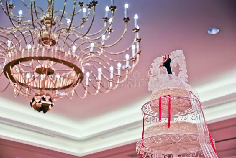 Свадебный пирог для свадебной церемонии стоковое изображение