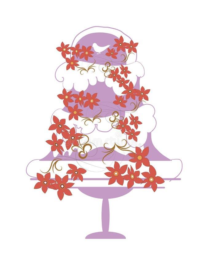 Свадебный пирог иллюстрация вектора