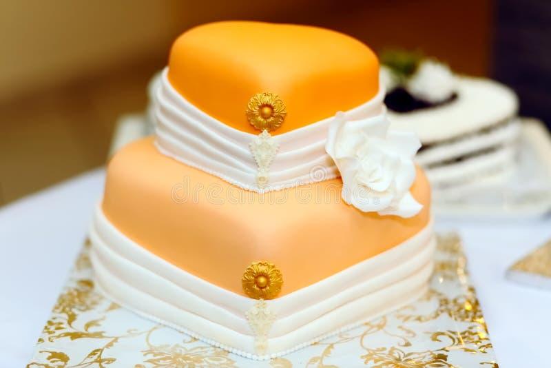 Свадебный пирог стоковая фотография rf