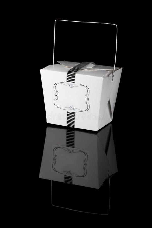 Свадьба благоволит к коробке стоковое изображение