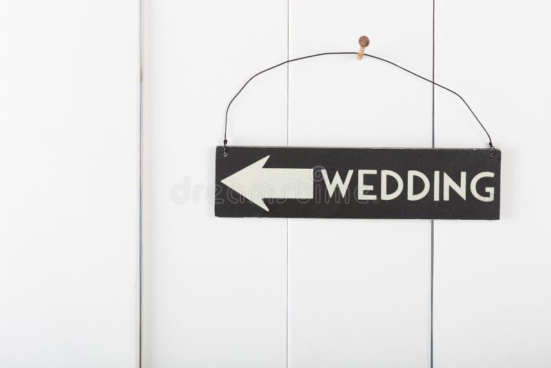 Свадьба знака стоковое изображение rf