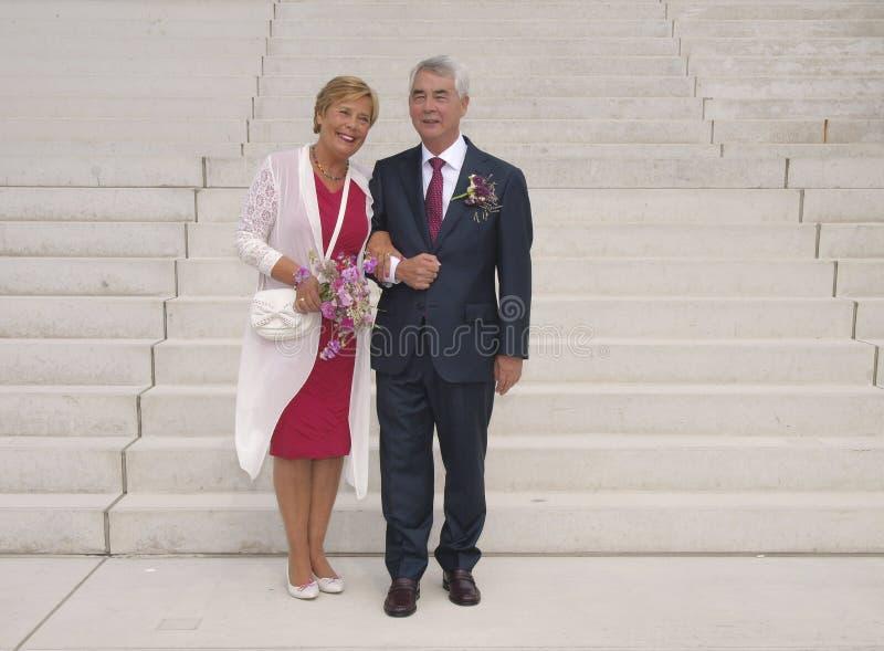 Свадьба престарелого стоковая фотография rf