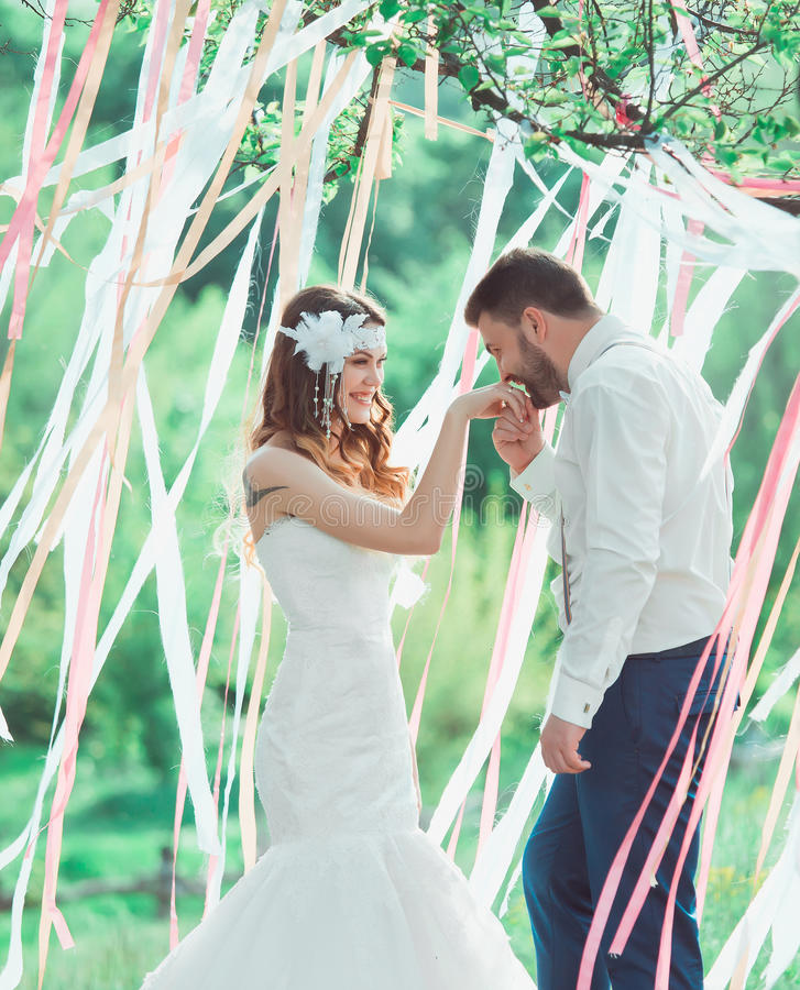 Свадьба стиля Boho стоковая фотография rf