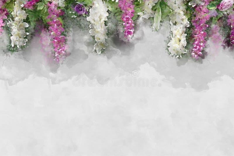 Свадьбы фона влияния акварели иллюстрация вектора
