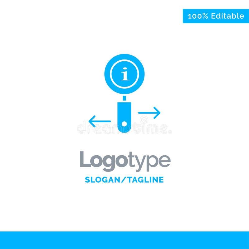 Сведения, информация, масштаб, поиск синего твердотельного логотипа Место для метки бесплатная иллюстрация