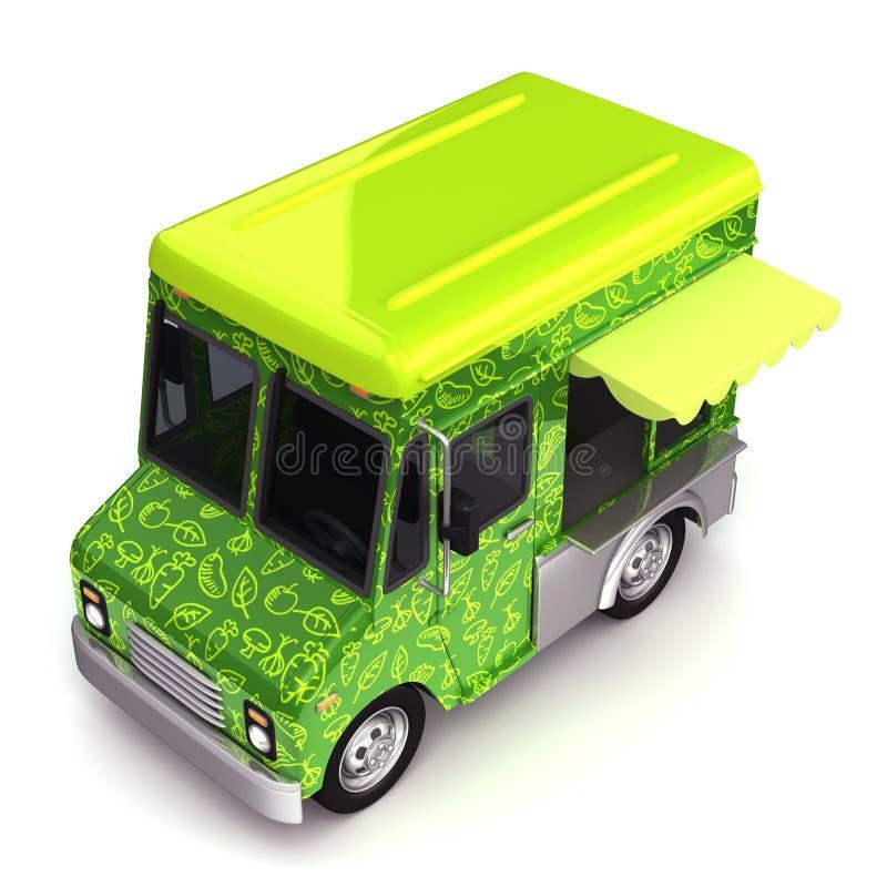 Свежая верхняя часть тележки зеленой еды бесплатная иллюстрация