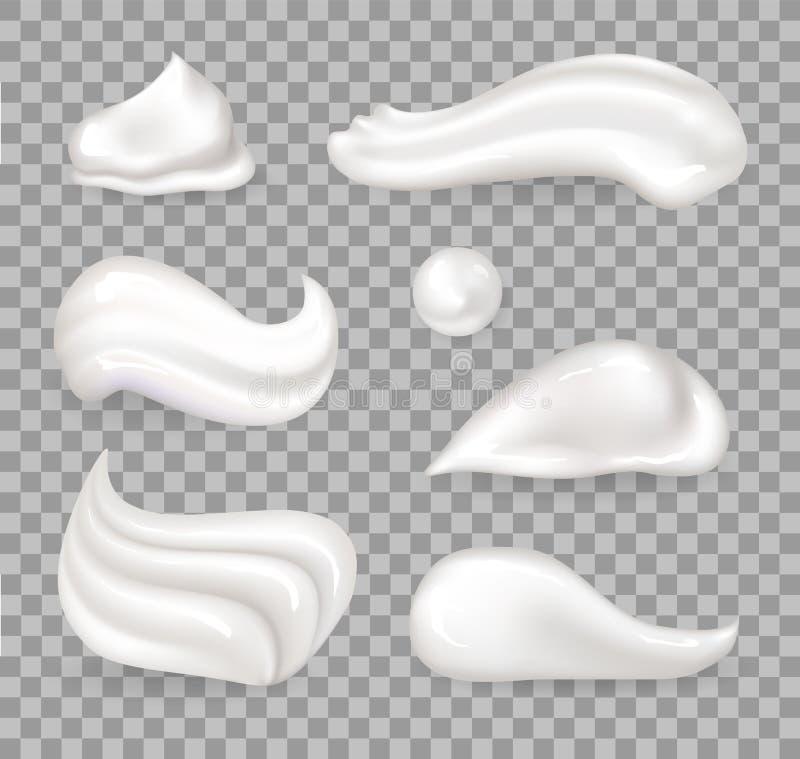 Свежая взбитая Cream иллюстрация вектора собрания бесплатная иллюстрация
