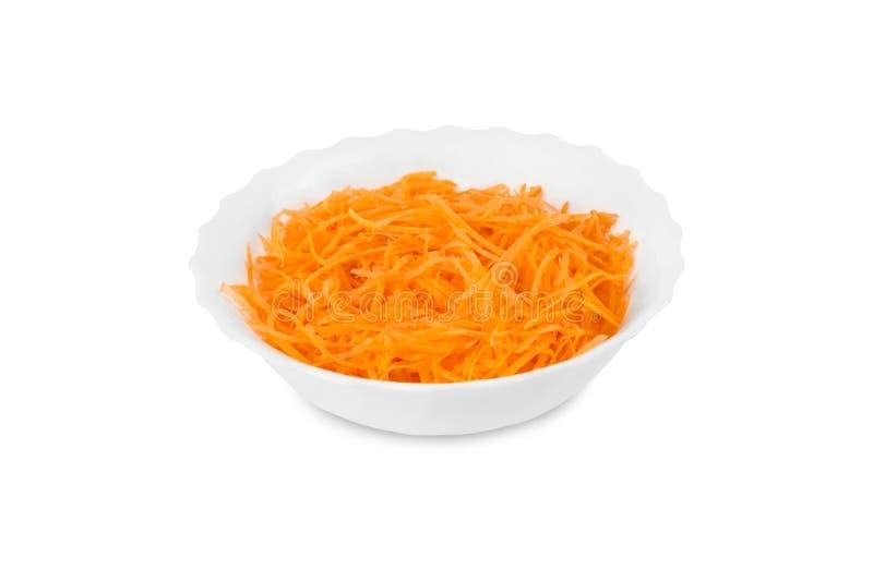 Свежая заскрежетанная морковь в плите стоковая фотография rf
