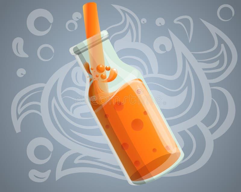 Свежая здоровая предпосылка концепции smoothie, стиль мультфильма иллюстрация штока
