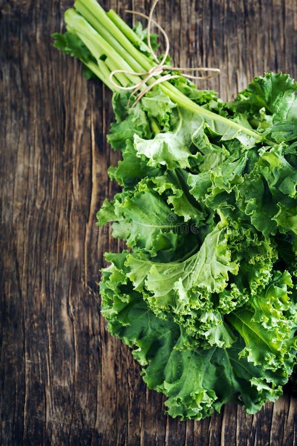 Свежая зеленая листовая капуста стоковые изображения rf