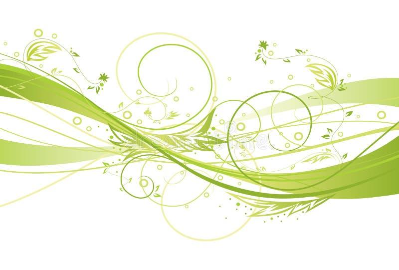 свежая конструкции флористическая иллюстрация вектора