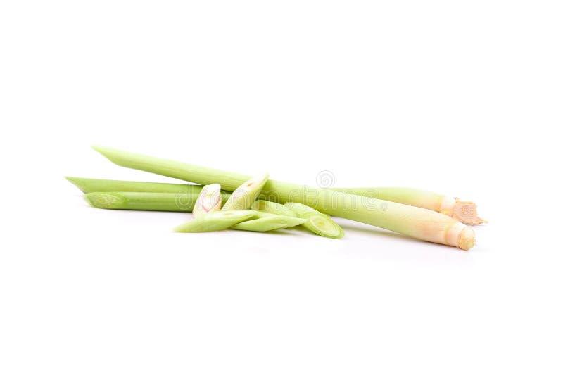 Свежая лимона травы предпосылка дальше сверх белая стоковое фото