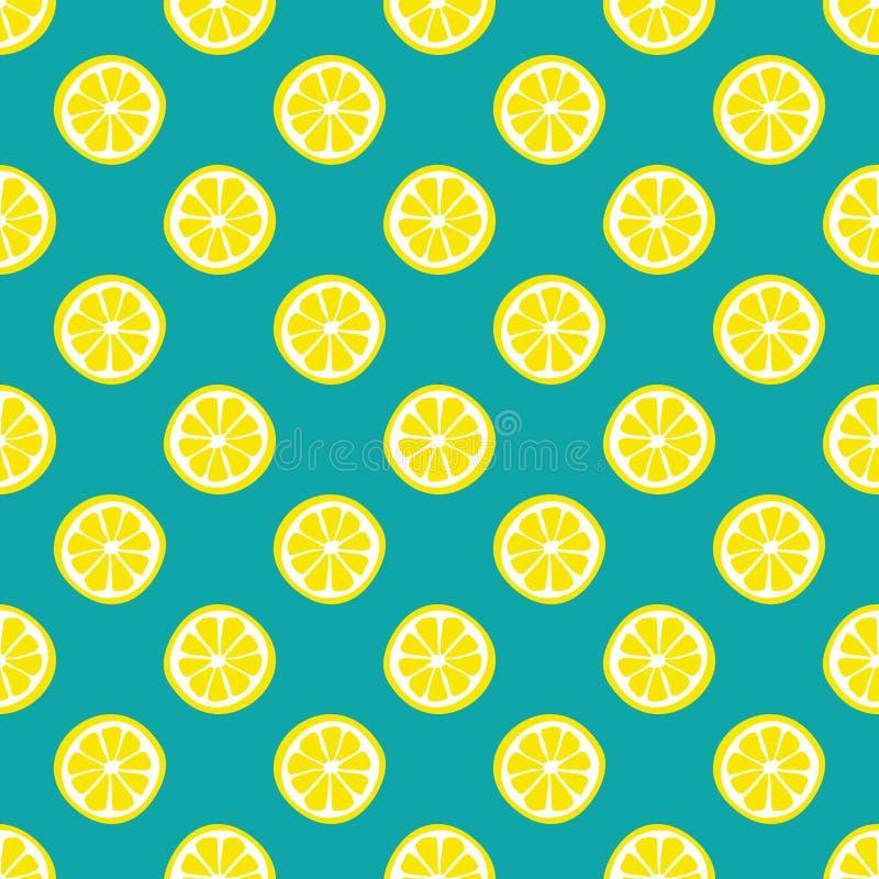 Свежая предпосылка лимонов Цветастый вектор обоев Безшовная картина с собранием цитрусовых фруктов Декоративная иллюстрация, хоро иллюстрация вектора