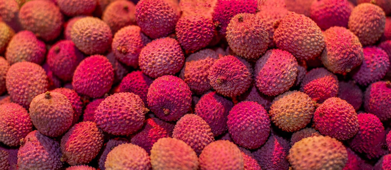 Свежая предпосылка lychees Текстура плода Lychee стоковая фотография rf