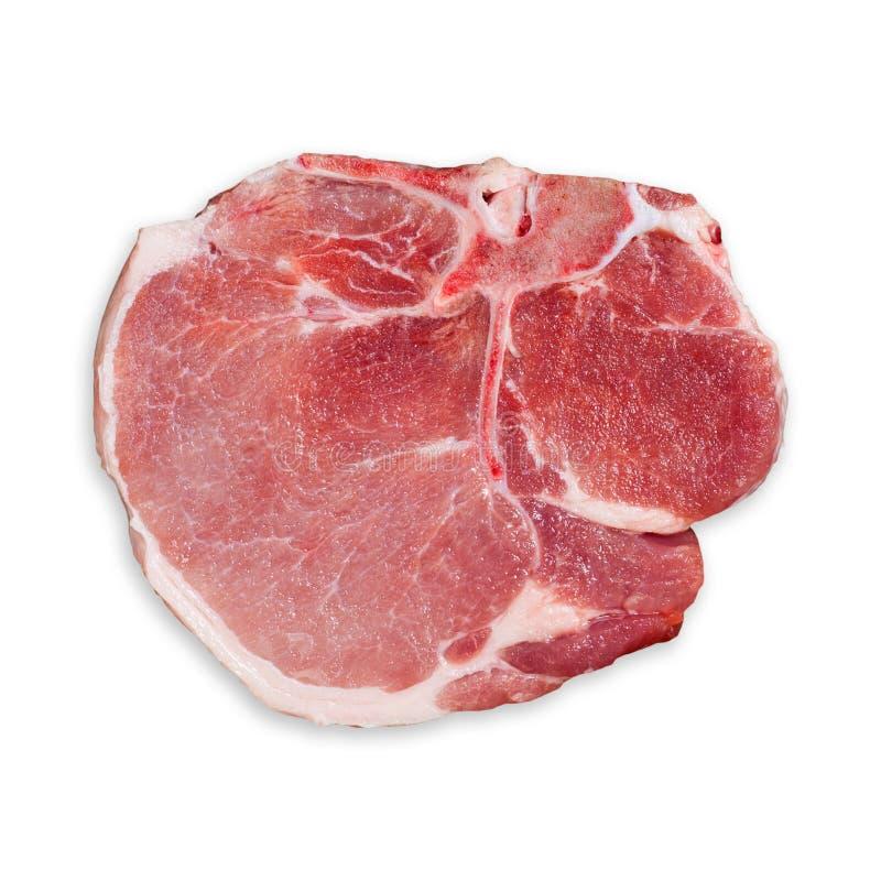 Свежая предпосылка белизны нервюры свинины говядины стоковая фотография rf