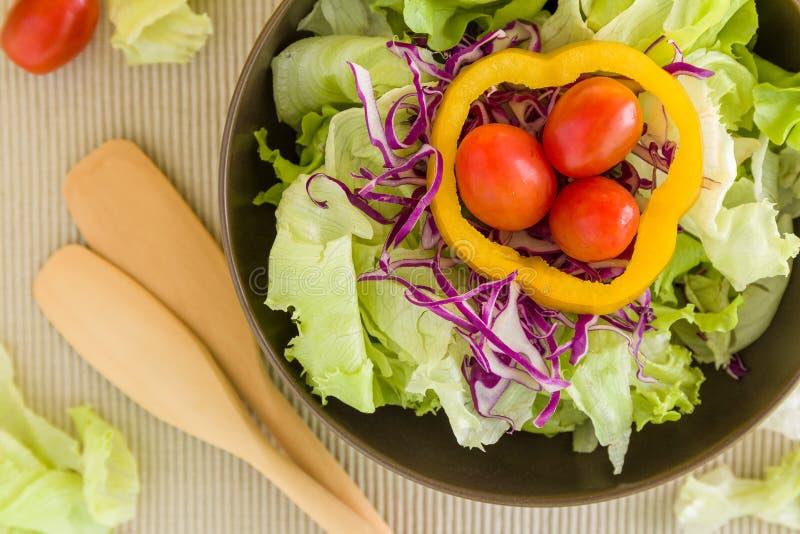 Свежая предпосылка салата/свежий салат/свежий салат в предпосылке шара стоковое изображение