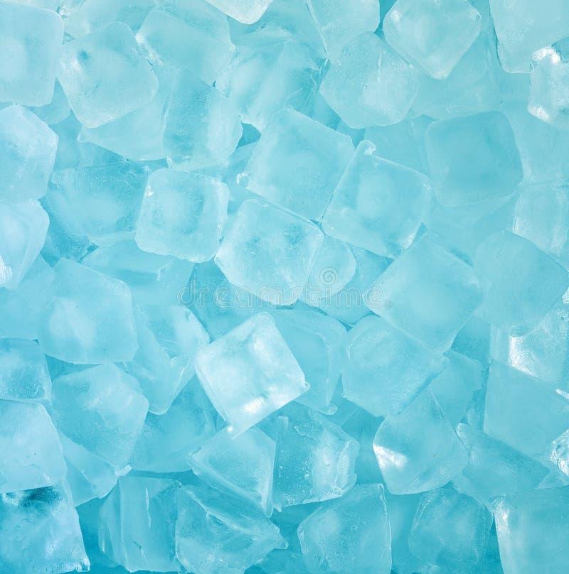 Свежая холодная голубая предпосылка куба льда стоковая фотография rf