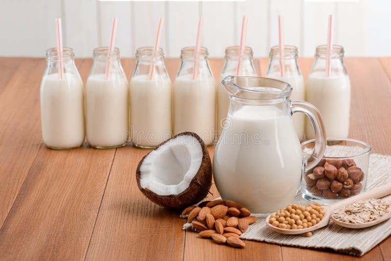 Свежее домодельное молоко vegan стоковые фото