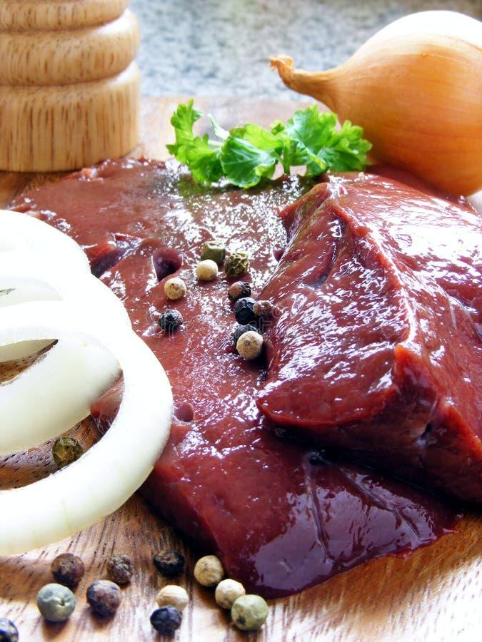 свежее мясо отрезает uncooked стоковое фото rf