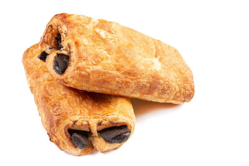 Свежее очень вкусное печенье со сливк какао изолированной над белой предпосылкой стоковая фотография rf