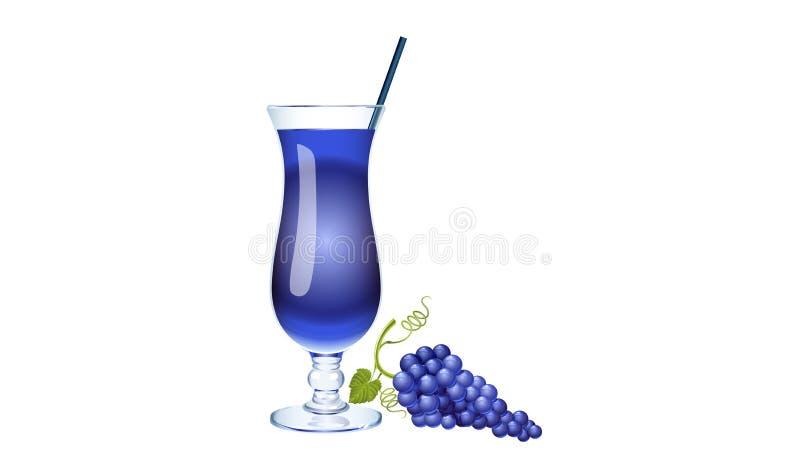 Свежее стекло фруктового сока виноградин с виноградинами стоковое фото