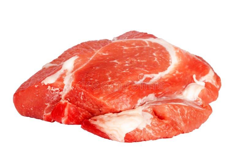 Свежее сырцовое мясо свинины изолированное на белизне стоковое изображение rf