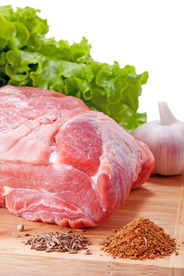Свежее сырцовое мясо свинины стоковое изображение
