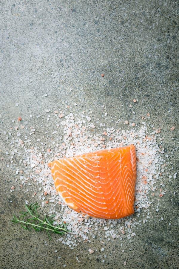 Свежее сырцовое salmon филе стоковая фотография rf