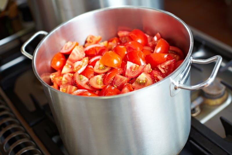 свежее tomatoe соуса стоковые фото