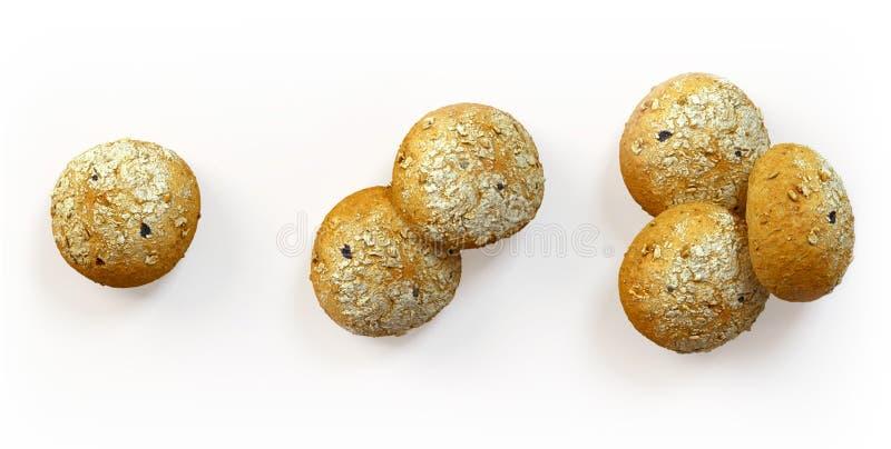 Свеже испеченный комплект хлеба оливок стоковое изображение rf