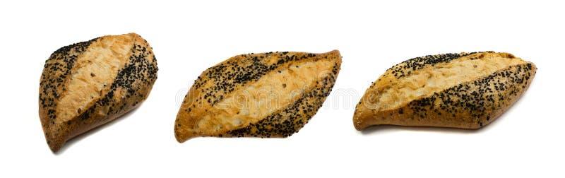 Свеже испеченный традиционный изолированный хлеб стоковое фото rf