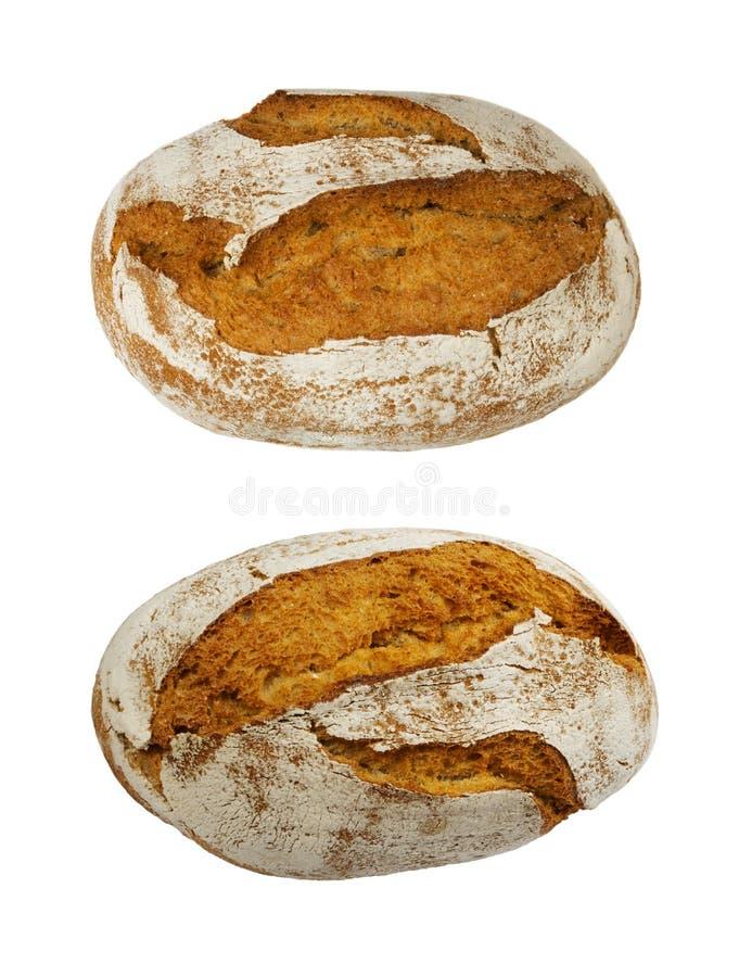 Свеже испеченный традиционный изолированный хлеб стоковое изображение rf