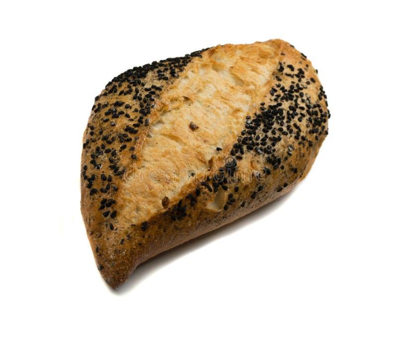 Свеже испеченный традиционный изолированный хлеб стоковое изображение
