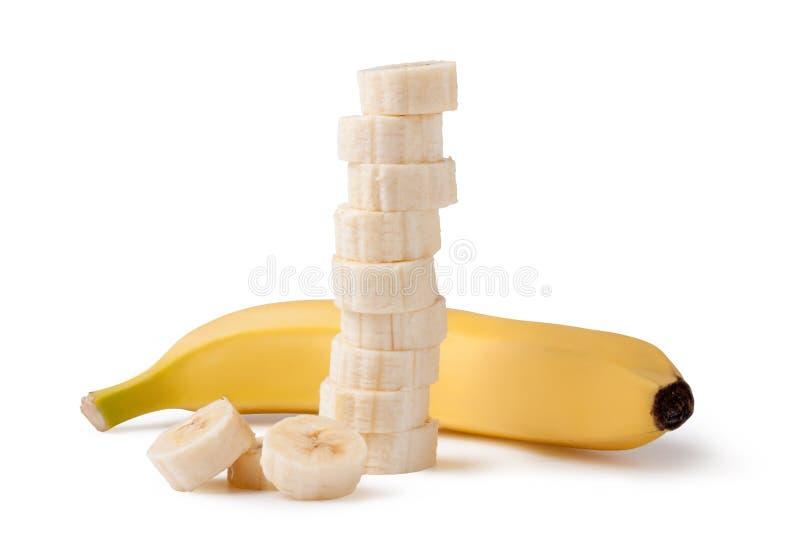 свеже отрезанные бананы стоковое изображение