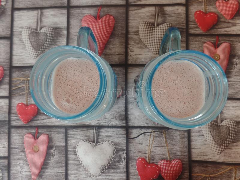 Свеже сделанные smoothies плодоовощ в стекле стоковые изображения