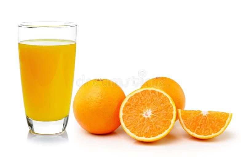 Свежие апельсин и стекло с соком стоковое изображение
