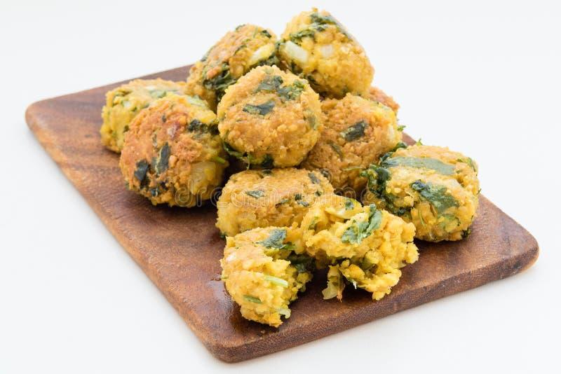 Свежие вегетарианские шарики falafel стоковые изображения